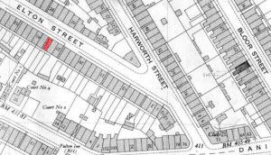 Elton Street 1950s map